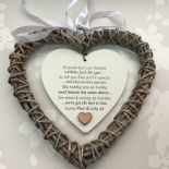 Shabby personalised Chic Special Auntie Aunty Aunt ~ ANY NAME Willow Heart Gift - 332886097115